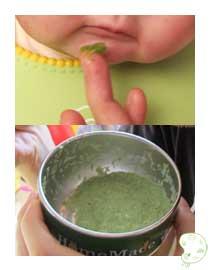 finger tasting