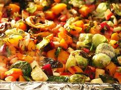 lemon and herb roasted vegetables