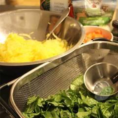spaghetti squash caprese baked