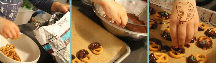 no-bake with kids: chocolate covered pretzels