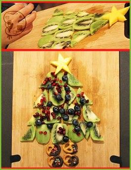 no-bake with kids: kiwi christmas tree